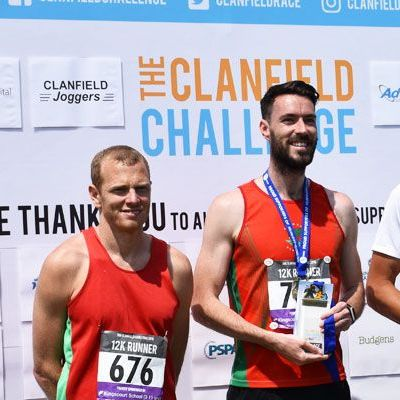 Winners of the Clanfield Challenge 2018 12k race